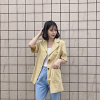 《予約販売》linen blend big jacket