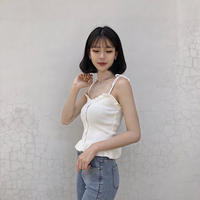 《予約販売》ribbon wave camisole