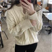 《予約販売》key neck knit