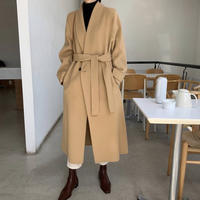 《予約販売》double button long coat (2color)