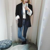 wool blend roll up jacket