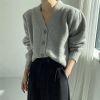 《予約販売》alpaca puff vneck cardigan (4color)