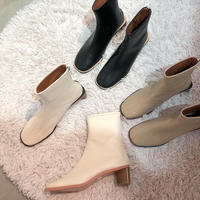 《予約販売》triangle heal leather boots (3color)