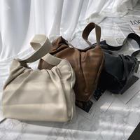 《予約販売》 soft leather shirring square bag (3color)