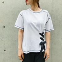 レースアップTシャツ/ホワイト