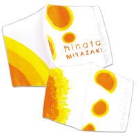 日本のひなた宮崎県ロゴ立体マスクセット2枚/フリー+Jr.サイズ