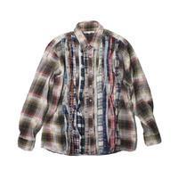 Rebuild by Needles Ribbon Flannel Shirt   BEIGE - M size