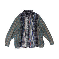 Rebuild by Needles Ribbon Flannel Shirt wide - onesize ⑩