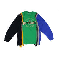 Rebuild by Needles 7 Cuts long sleeve Tee College GREEN  - size L ⑤