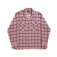 Needles CUT-OFF BOTTOM CLASSIC SHIRT  PE/R TWILL / HAND DRAWING PLAID - M size