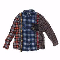 Rebuild by Needles 7 CUT Flannel Shirt BLUE CHK- M size