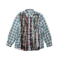 Rebuild by Needles Ribbon Flannel Shirt GREEN  - M size