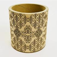 【 受注生産品 】 紙管彫刻ケース