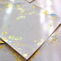 箔便箋+箔封筒 レターセット 『 白夜飛行 - 光輝燦爛 - 』
