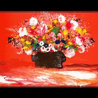 愛を広げる花束(ジクレー版画)