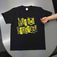 HJSオリジナルTシャツ:Art&strategy:ブラック:イエロープリント