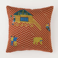 snip snap SATOYAMA cushion cover | bear red