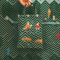 snip snap SATOYAMA  bag |  fox green
