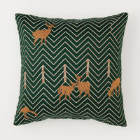 snip snap SATOYAMA cushion cover | deer green