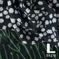 BLOOM blanket | GYPSOPHILA black (L)130cm×200cm