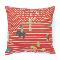snip snap EAT WELL,PLAY WELL,SLEEP WELL  cushion cover |  eat well red
