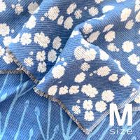 BLOOM blanket | GYPSOPHILA light blue (M)130cm×130cm