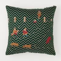 snip snap SATOYAMA cushion cover | fox green