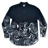 うずまきドレスシャツ-BLACK-