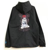 【messa store】serial experiments lain 刺繍フーデッドジャケット-BLACK-