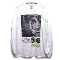 【NUMBER 3】GlitchロングスリーブTシャツ / T10-4090-W