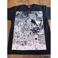 うずまきコラージュTシャツ / T05-4055