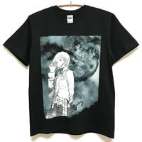 【CHAOSMARKET】Moon Tシャツ-BLACK- / T09-4081-B