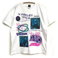 【messa store】Distortion mind Tシャツ-WHITE-