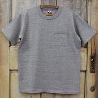 リサイクルコットン吊天竺ポケットTシャツ - ライト杢グレー