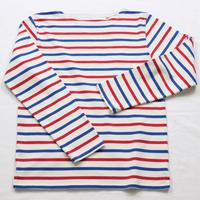 テンジクヤ ボーダー Tシャツ オフホワイト X レッド X ブルー