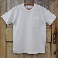 リサイクルコットン吊天竺ポケットTシャツ - オフホワイト