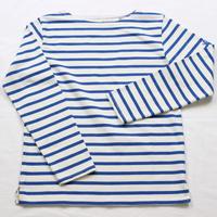 テンジクヤ ボーダー Tシャツ オフホワイト X ブルー