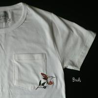 ハチドリ刺繍 Tシャツ Hummingbird.