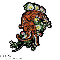 Tiger with Flowers XL