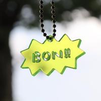 BON!!キーホルダー[英語・イエロー]