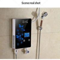 6000W 瞬間湯沸かし インスタント タンクレス 電気温水ヒーター キッチン 浴室 クイック加熱 シャワーLEDディスプレイ 液晶温度表示