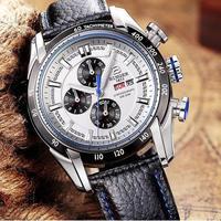 【送料無料】BINGER メンズ 腕時計 クロノグラフ 革 高級 デザイン 海外 人気 (07) 残り1点