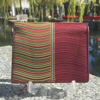 波筬(なみおさ)二つ折財布【307-4 紫】