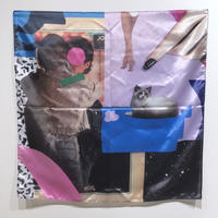onnacodomo collage artwork Scarf 07「Friday's Child」