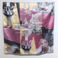 onnacodomo collage artwork Scarf 05「Love Eyes」
