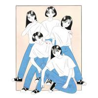 「Tシャツとジーパンと女の子」深川 優【原画作品】