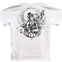 T-shirts men Nyoirin Kannon white Buddhist Japanese sumi-e Art
