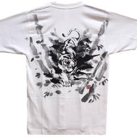T-shirts men White tiger white Japanese sumi-e Art