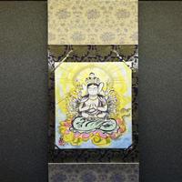 Juichimen senju kannon hanging scroll shikishi paper