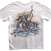 T-shirts men Nasu no Yoichi color Japanese sumi-e Art